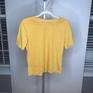 NWOT stripe tee short sleeve yellow and white